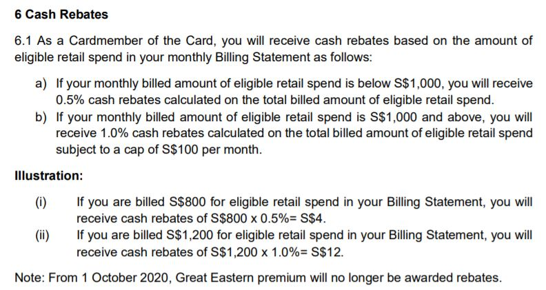 OCBC Cashflo Credit Card Post October 2020 Cash Rebates