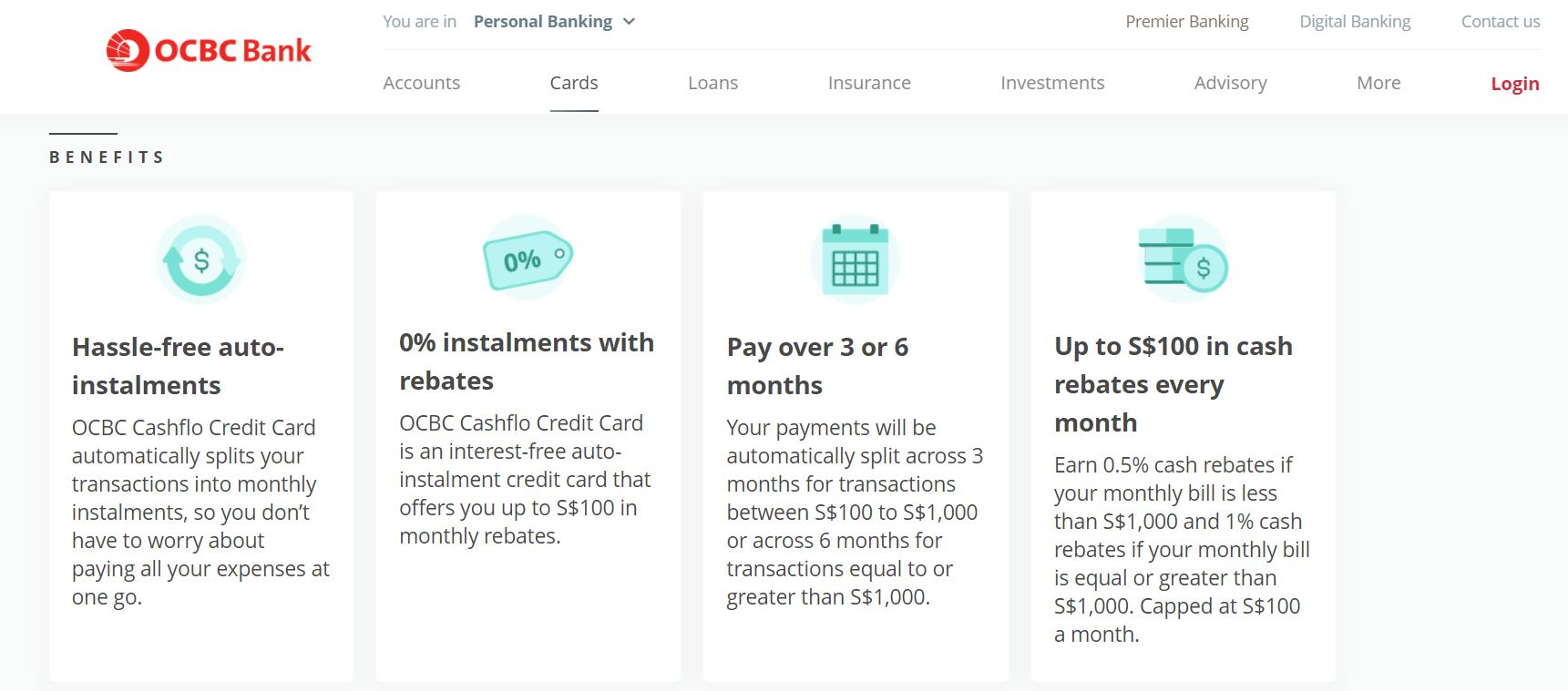 OCBC Cashflo Credit Card Pre-October 2020