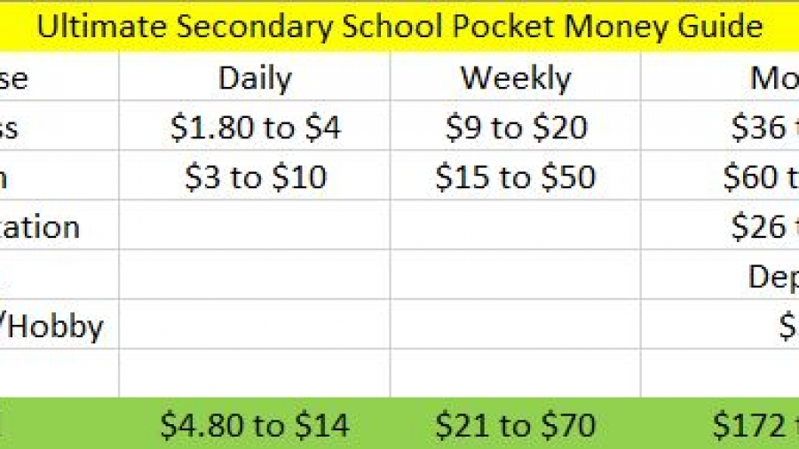 Parents Alert Your Secondary School Pocket Money Guide Summary
