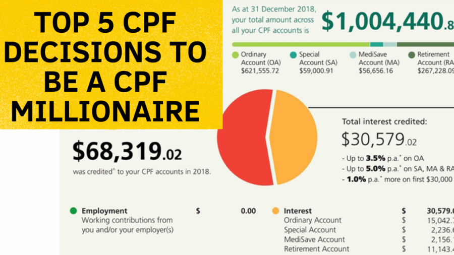 Top 5 CPF Decisions To Be A CPF Millionaire