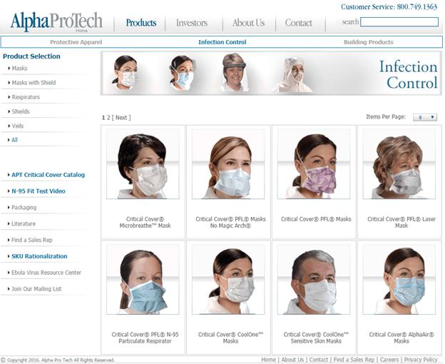 Alpha Pro Tech Face Mask