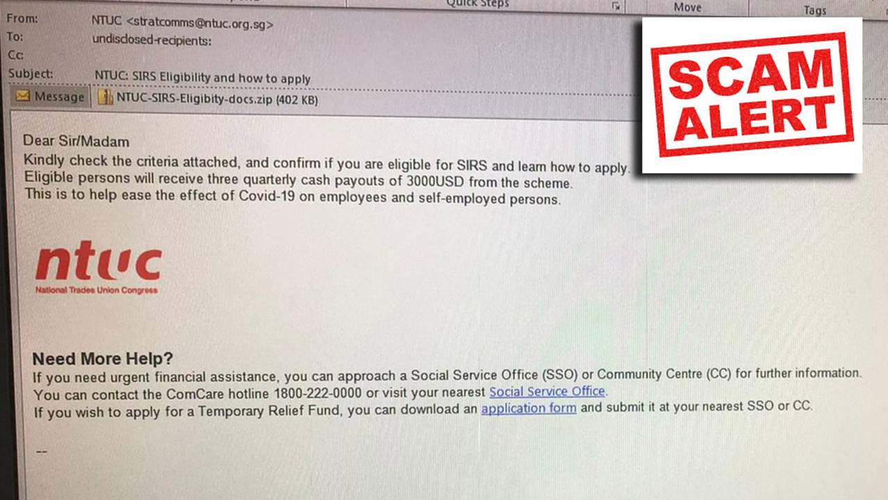 NTUC SIRS Scam