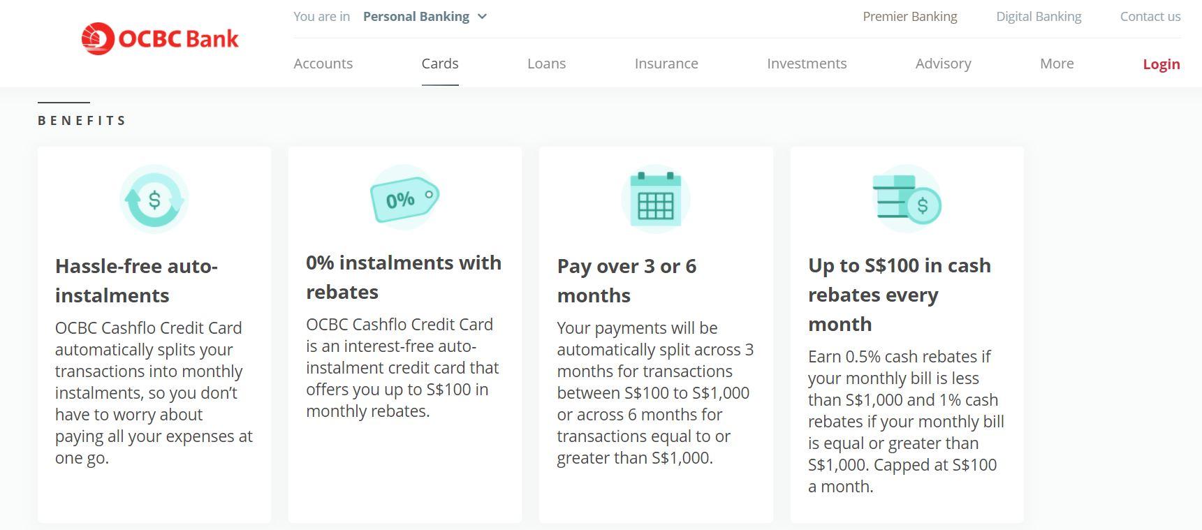 OCBC Cashflo Credit Card Pre-October 2020
